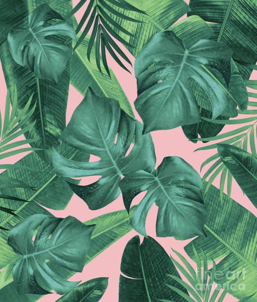 Banana Leaf Mixed Media - Tropical Summer Jungle Leaves Dream #1 #tropical #decor #art  by Anitas and Bellas Art
