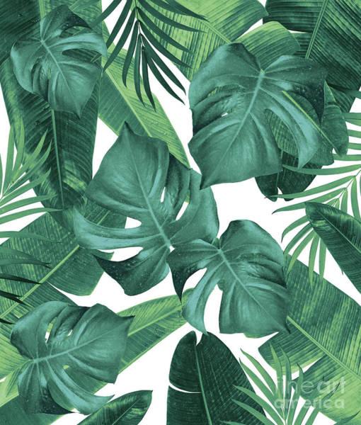 Banana Leaf Mixed Media - Tropical Summer Jungle Leaves Dream #2 #tropical #decor #art by Anitas and Bellas Art