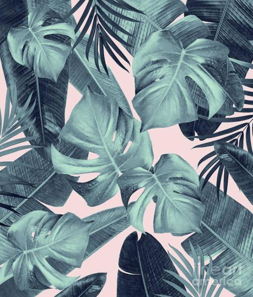 Banana Leaf Mixed Media - Tropical Summer Jungle Leaves Dream #3 #tropical #decor #art by Anitas and Bellas Art