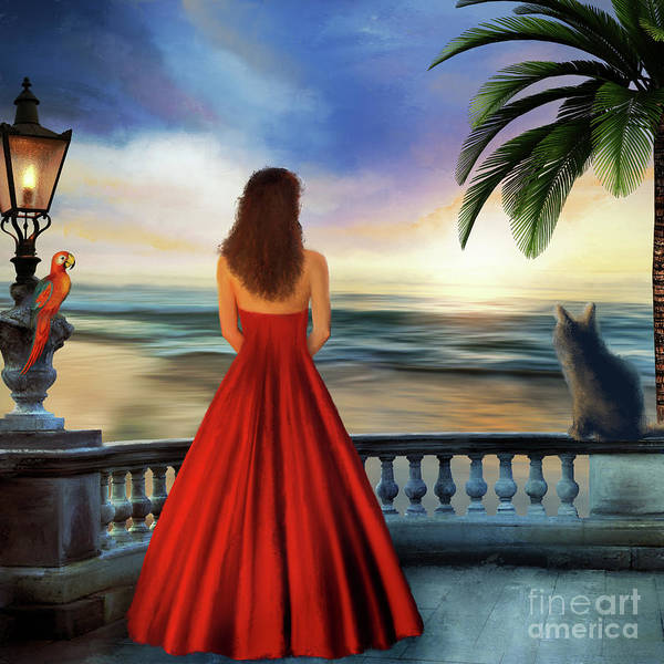 Digital Art - Tropical Sunset by Anne Vis