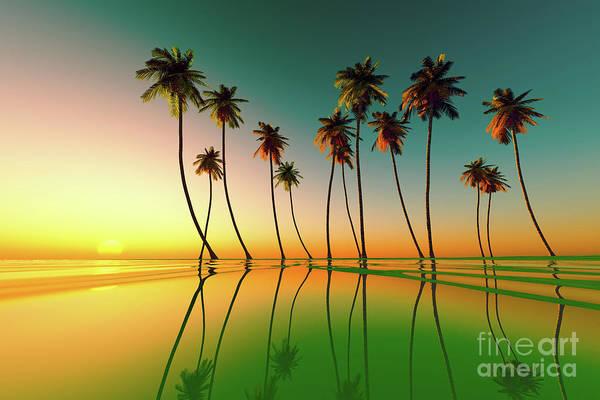 Wall Art - Photograph - Tropical Sunset Green by Aleksey Tugolukov