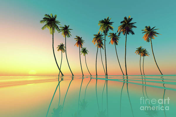 Wall Art - Photograph - Tropical Sunset Turquoise by Aleksey Tugolukov