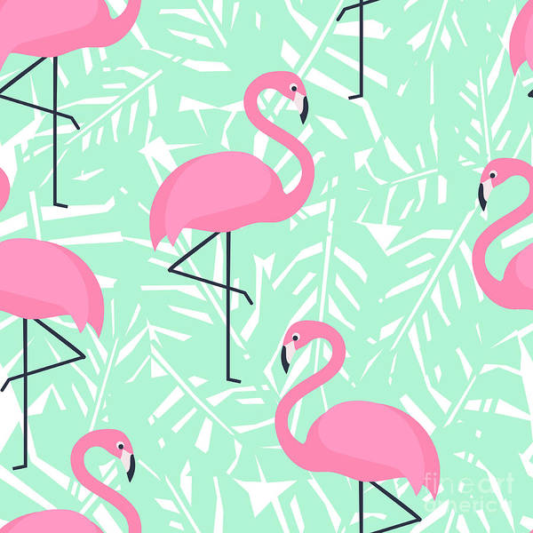 Beauty In Nature Wall Art - Digital Art - Tropical Trendy Seamless Pattern With by In dies magis