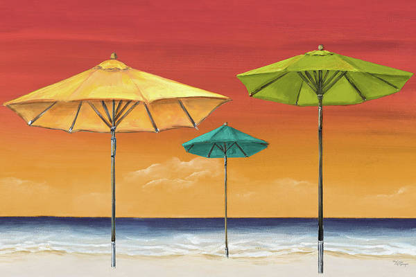Wall Art - Painting - Tropical Umbrellas I by Tiffany Hakimipour