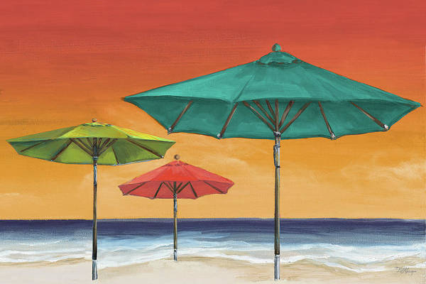Wall Art - Painting - Tropical Umbrellas II by Tiffany Hakimipour