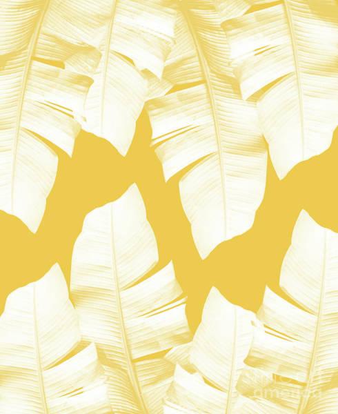 Banana Leaf Mixed Media - Tropical Yellow Banana Leaves Vibes #1 #decor #art by Anitas and Bellas Art