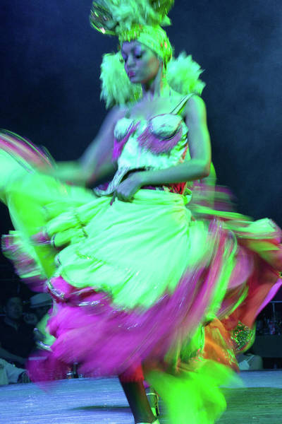 Tropicana Club Photograph - Tropicana Dancer In Motion IIi by Alexander McAllan