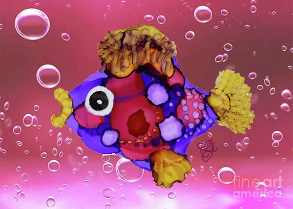 Painting - Tropicana Fun Fish by Christine Dekkers