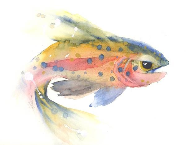 Painting - Trout #1 by Dawn Derman