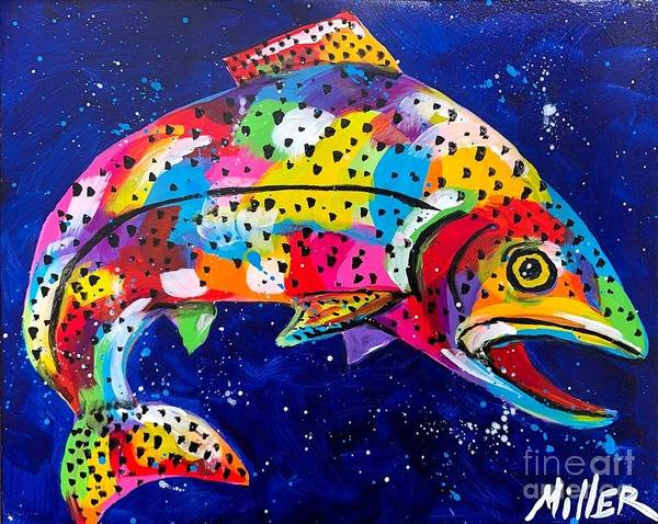 Wall Art - Painting - Trout Dreams II by Tracy Miller