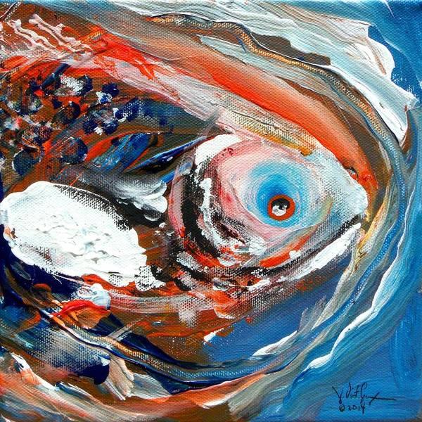 Painting - Trout Essence by J Vincent Scarpace