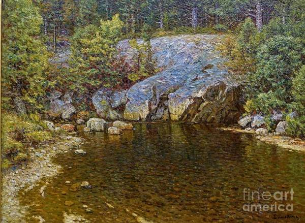 0 Painting - Trout Pool by Reproduction