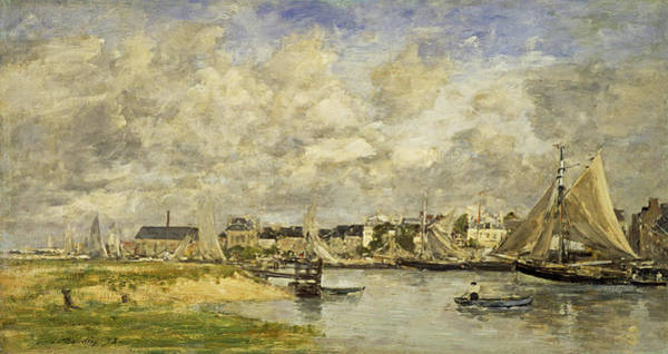 Wall Art - Painting - Trouville Harbour, 1873 by Eugene Louis Boudin