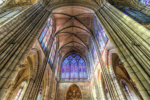 Wall Art - Photograph - Troyes Cathedral Architecture by David Pyatt