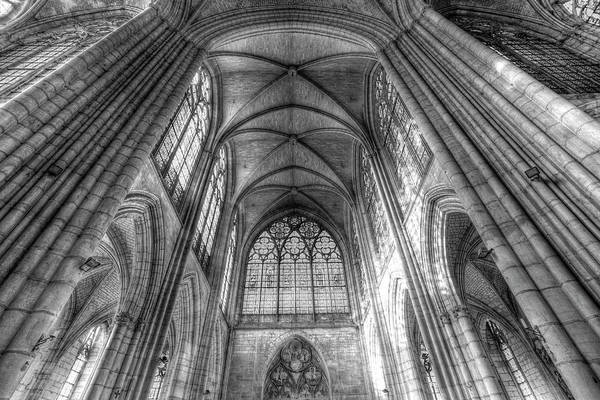 Wall Art - Photograph - Troyes Cathedral Monochrome by David Pyatt