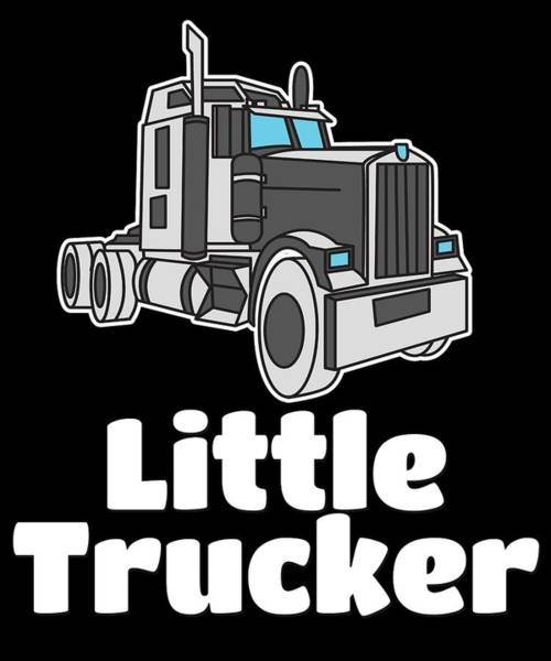 Moustache Mixed Media - Trucker Truck Driver 2 Highway Drive Transport Driver Lkw Funny Tshirt by Roland Andres
