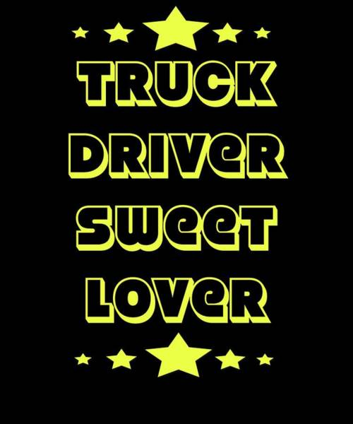 Moustache Mixed Media - Trucker Truck Driver Highway 1 Drive Transport Driver Lkw Funny Tshirt by Roland Andres