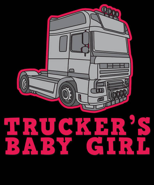Moustache Mixed Media - Trucker Truck Driver Highway 7 Drive Transport Driver Lkw Funny Tshirt by Roland Andres