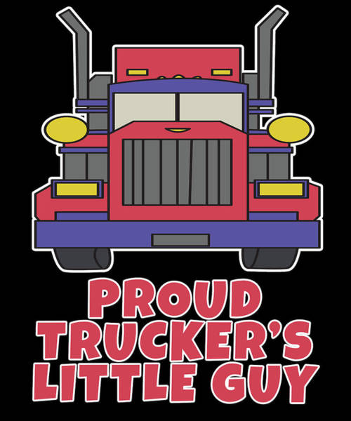 Moustache Mixed Media - Trucker Truck Driver Highway 9 Drive Transport Driver Lkw Funny Tshirt by Roland Andres