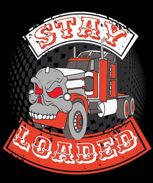 Moustache Mixed Media - Trucker Truck Driver Highway Drive 9 Transport Driver Lkw Funny Tshirt by Roland Andres