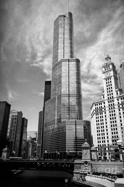 Wall Art - Photograph - Trump International Hotel And Tower Skyscraper In Downtown Chicago Il Usa by Joe Fox