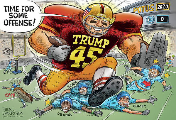Drawing - Trump On Offense by GrrrGraphics ART