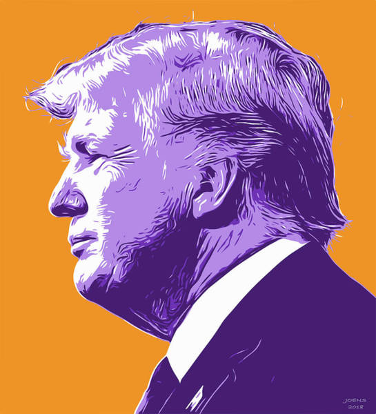 Political Wall Art - Digital Art - Trump Popart by Greg Joens
