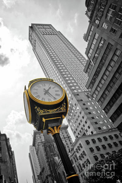 Wall Art - Photograph - Trump Tower Clock On Fifth Avenue by Delphimages Photo Creations