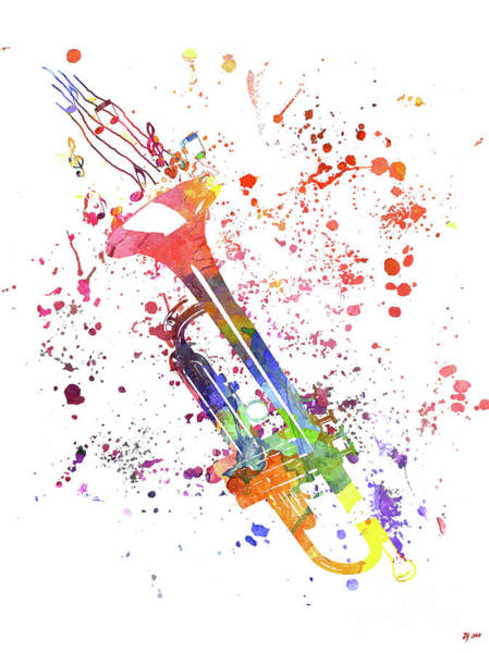 Trumpet Mixed Media - Trumpet by Daniel Janda
