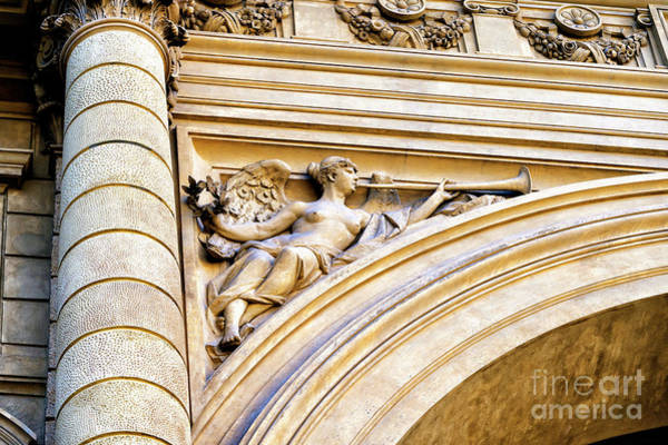 Photograph - Trumpet Player On The Triumphal Arch In Florence by John Rizzuto