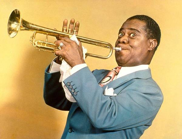 Photograph - Trumpeter Louis Armstrong In The Daily by New York Daily News Archive
