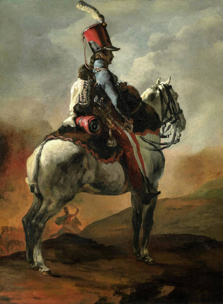 Wall Art - Painting - Trumpeter Of The Hussars, 1820 by Theodore Gericault