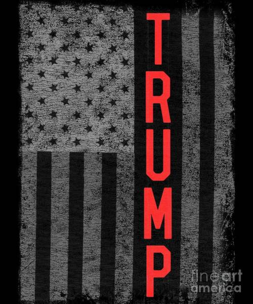 Digital Art - Trumps America Usa Flag Patriotic by Flippin Sweet Gear