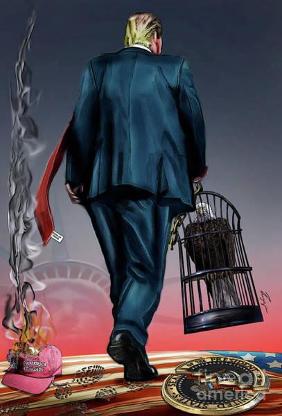 Painting - Trumps Success Means Americas Demise by Reggie Duffie