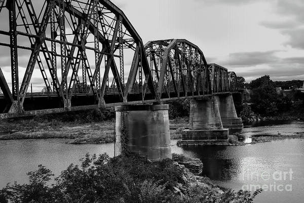 Photograph - Truss Bridge In Black And White by Diana Mary Sharpton