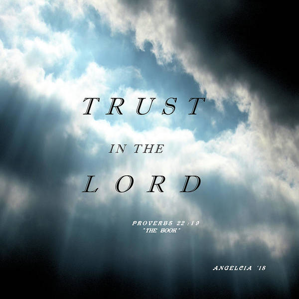 Photograph - Trust In The Lord by Angelcia Wright
