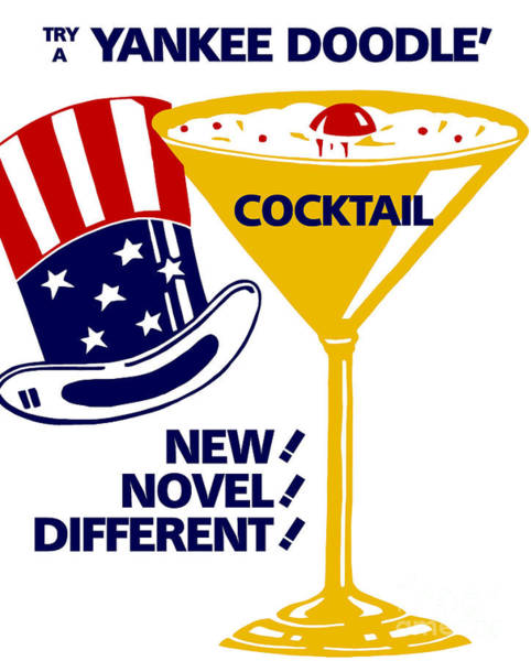 Drawing - Try A Yankee Doodle Cocktail by Aapshop