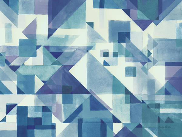 Wall Art - Painting - Try Angles I Blue by Danhui Nai