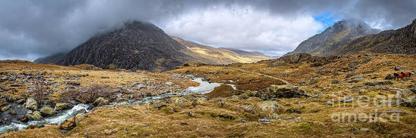 Wall Art - Photograph - Tryfan And Pen Yr Ole Wen Mountain Snowdonia by Adrian Evans
