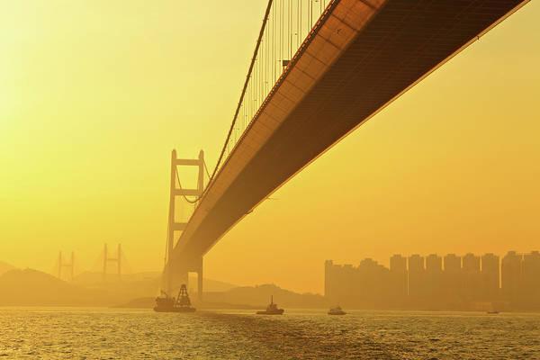 Photograph - Tsing Ma Bridge by Leung Cho Pan