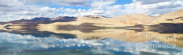 Wall Art - Photograph - Tso Moriri Mountain Lake Panorama With Mountains And Blue Sky Re by Oleg Ivanov