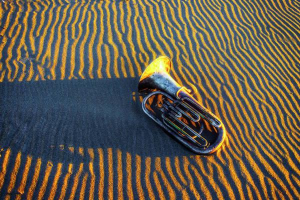 Wall Art - Photograph - Tuba On Sandy Beach At Twilight by Garry Gay