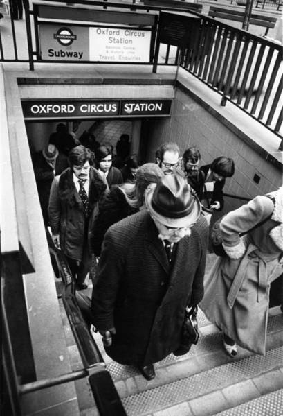 1976 Photograph - Tube Travellers by W H Alden