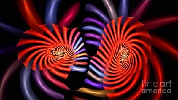 Digital Art - Tubular Rainbow by Doug Morgan
