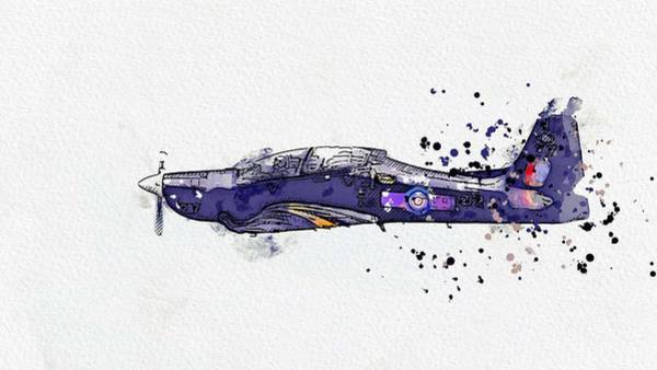 Wall Art - Painting - Tucano 2 Watercolor By Ahmet Asar by Celestial Images