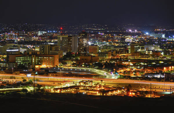 Photograph - Tucson, Arizona Skyline At Night by Chance Kafka
