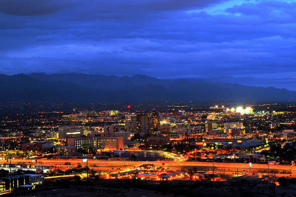 Photograph - Tucson Cloudy Twilight by Chance Kafka
