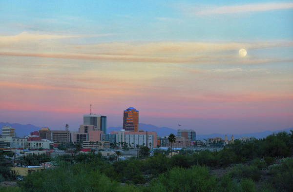 Photograph - Tucson Moonrise by Chance Kafka