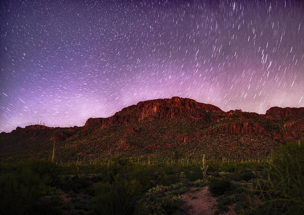 Photograph - Tucson Mountains Star Trails by Chance Kafka