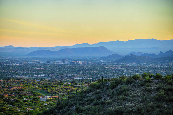 Photograph - Tucson Skyline And A Mountain by Chance Kafka